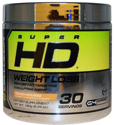Super HD, Weight Loss, Peach Mango, 6.34 oz (180 g) by Cellucor, 減肥,飲食,脂肪燃燒器 HK 香港