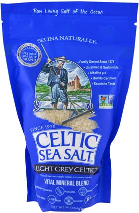 Light Grey Celtic, Vital Mineral Blend, 1 lb (454 g) by Celtic Sea Salt, 食品,香料和調料,凱爾特海鹽淺灰色凱爾特人 HK 香港