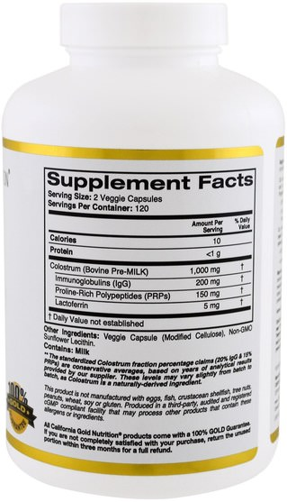 cgn初乳,補品,初乳 - California Gold Nutrition, CGN, Colostrum, 240 Veggie Capsules
