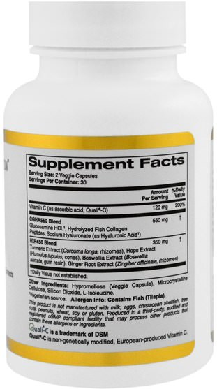 cgn條件101,抗衰老 - California Gold Nutrition, CGN, Targeted Support, Joint 101, 60 Veggie Capsules