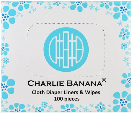 Cloth Diaper Liners & Wipes, 100 Pieces by Charlie Banana, 兒童健康,尿布 HK 香港