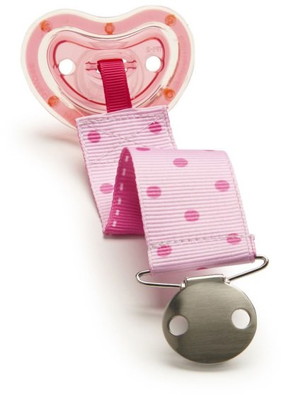 兒童健康,嬰兒,兒童,奶嘴,嬰兒及兒童產品 - Munchkin, Latch Lightweight Pacifier & Designer Clip, 6+ Months, 1 Pacifier & Designer Clip