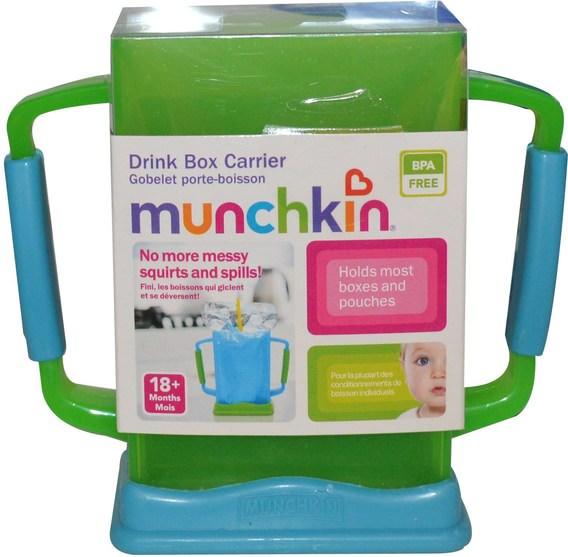 兒童健康,嬰兒,兒童,嬰兒旅行配件,兒童食品 - Munchkin, Drink Box Carrier, 18+ Months
