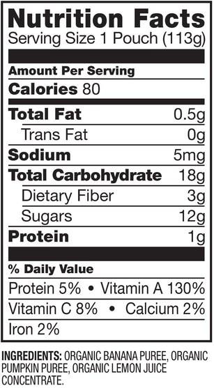 兒童健康,嬰兒餵養,食物,兒童食品 - Plum Organics, Organic Baby Food, Stage 2, Banana & Pumpkin, 4 oz (113 g)