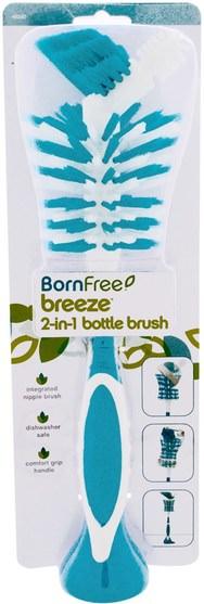 兒童的健康,餵養和清潔 - Born Free, Breeze 2-In-1 Bottle Brush, 1 Bottle Brush