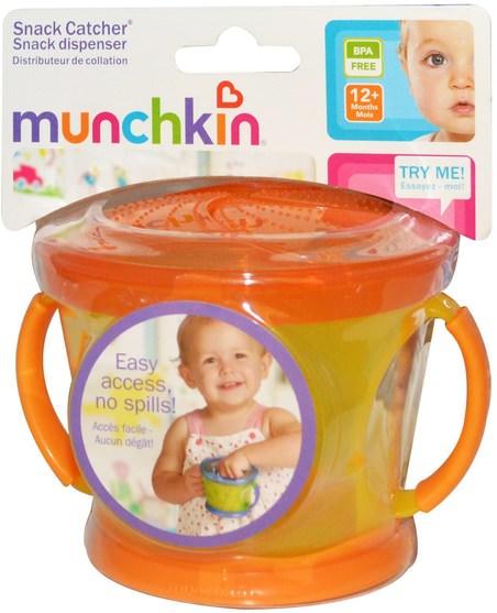 兒童健康,兒童食品,嬰兒餵養和清潔 - Munchkin, Snack Catcher, 12+ Months