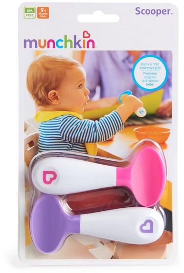 兒童健康,兒童食品 - Munchkin, Scooper Spoons, 9 + Months, 2 Spoons
