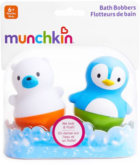 兒童健康,兒童玩具,洗澡玩具 - Munchkin, Bath Bobbers, 6+ Months, 2 Pack