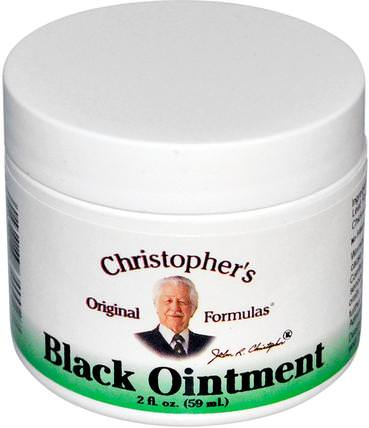 Black Ointment, 2 fl oz (59 ml) by Christophers Original Formulas, 草藥,紫草 HK 香港