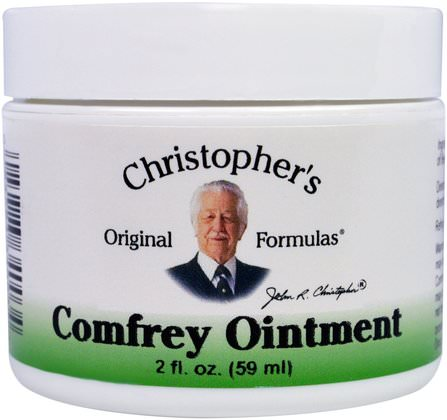 Comfrey Ointment, 2 fl oz (59 ml) by Christophers Original Formulas, 草藥,紫草 HK 香港