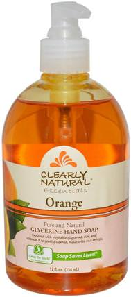 Essentials, Glycerine Hand Soap, Orange, 12 fl oz (354 ml) by Clearly Natural, 洗澡,美容,肥皂 HK 香港