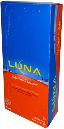 Clif Bar, Luna Energy Bar, Nutz Over Chocolate, 15 Bars 1.69 oz (48 g) Each 健康,女性,女性運動產品