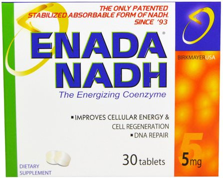 Enada NADH, 5 mg, 30 Tablets by Co - E1, co - e1 HK 香港