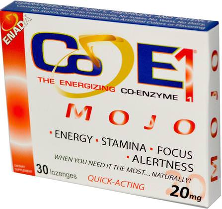 The Energizing Co-enzyme, Mojo, 20 mg, 30 Lozenges by Co - E1, 補充劑,nadh HK 香港