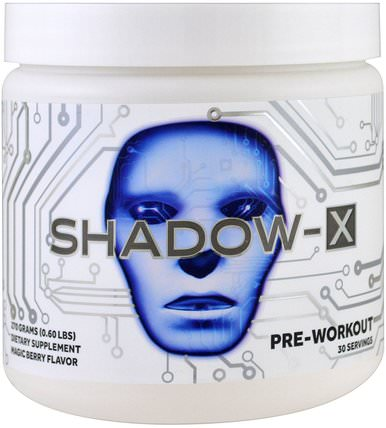 Shadow-X Pre-Workout, Magic Berry Flavor, 0.60 lbs (270 g) by Cobra Labs, 健康,能量,運動 HK 香港