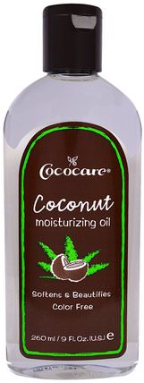 Coconut Moisturizing Oil, 9 fl oz (260 ml) by Cococare, 沐浴,美容,椰子油皮,按摩油 HK 香港