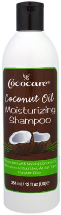 Coconut Oil Moisturizing Shampoo, 12 fl oz (354 ml) by Cococare, 洗澡,美容,頭髮,頭皮,洗髮水,護髮素 HK 香港
