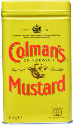 Double Superfine Mustard Powder, 4 oz (113 g) by Colmans, 食物,調味品和調味品,芥末 HK 香港