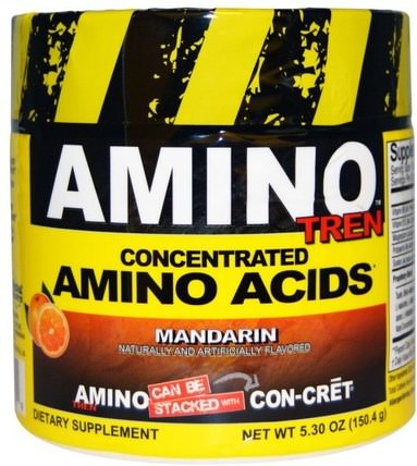 Amino-Tren, Concentrated Amino Acids, Mandarin, 5.30 oz (150.4 g) by Con-Cret, 運動,鍛煉,運動 HK 香港