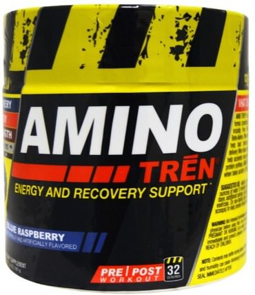 Con-Cret, Amino Tren, Energy and Recovery Support, Blue Raspberry, 5.8 oz (164 g) 運動,鍛煉,運動