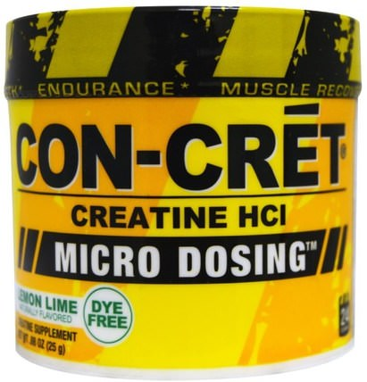 Creatine HCI, Micro-Dosing, Lemon Lime.88 oz (25 g) by Con-Cret, 運動,肌酸粉,運動 HK 香港