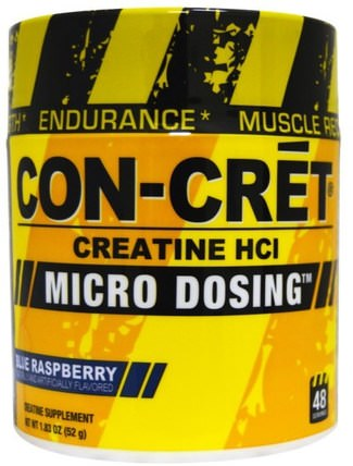 Creatine HCl, Micro Dosing, Blue Raspberry, 1.83 oz (52 g) by Con-Cret, 運動,肌酸粉,運動 HK 香港