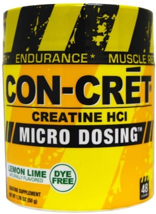 Creatine HCl, Micro Dosing, Lemon Lime, 1.76 oz (50 g) by Con-Cret, 運動,肌酸粉,運動 HK 香港