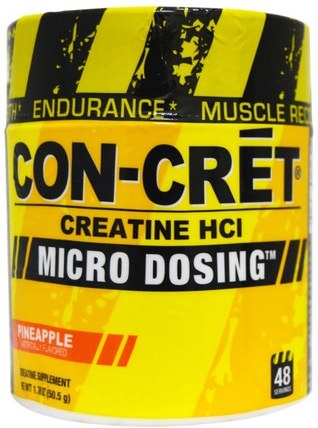 Creatine HCl, Micro Dosing, Pineapple, 1.78 oz (50.5 g) by Con-Cret, 運動,肌酸粉,運動 HK 香港