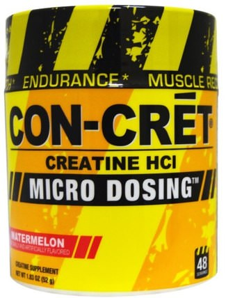 Creatine HCl, Micro Dosing, Watermelon, 1.83 oz (52 g) by Con-Cret, 運動,肌酸粉,運動 HK 香港