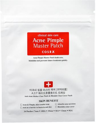 Acne Pimple Master Patch, 24 Patches by Cosrx, 沐浴,美容,粉刺外用產品 HK 香港