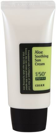 Aloe Soothing Sun Cream, PA+++, SPF 50+, 1.69 fl oz (50 ml) by Cosrx, 健康,皮膚 HK 香港
