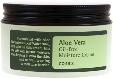 Aloe Vera Oil-Free Moisture Cream, 3.52 oz (100 g) by Cosrx, 美容,面部護理 HK 香港