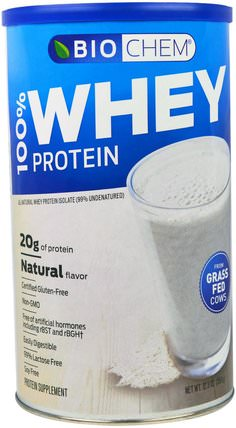 BioChem, 100% Whey Protein, Natural Flavor, 12.3 oz (350 g) by Country Life, 補充劑,乳清蛋白,生物化學 HK 香港