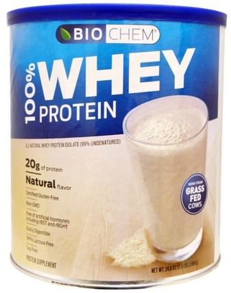 BioChem, 100% Whey Protein, Natural Flavor, 24.6 oz (699 g) by Country Life, 補充劑,乳清蛋白,生物化學 HK 香港