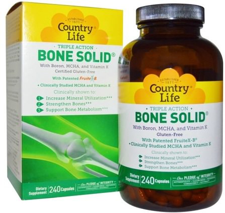 Bone Solid, 240 Capsules by Country Life, 健康,骨骼,骨質疏鬆症 HK 香港