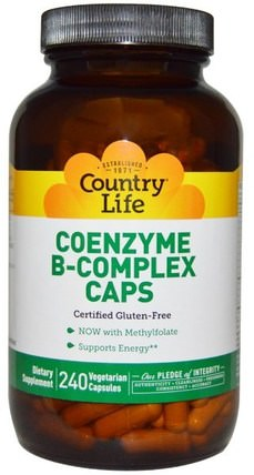 Coenzyme B-Complex Caps, 240 Vegetarian Capsules by Country Life, 維生素,維生素b複合物 HK 香港