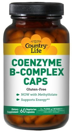 Coenzyme B-Complex Caps, 60 Vegetarian Capsules by Country Life, 補充劑,輔酶b維生素 HK 香港