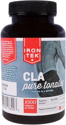 Iron-Tek, CLA, Pure Tonalin CLA Complex, 1000 mg, 90 Softgels by Country Life, 減肥,飲食,cla(共軛亞油酸),鐵tek麩質 HK 香港