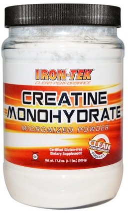 Iron-Tek, Creatine Monohydrate, 17.6 oz (500 g) by Country Life, 運動,肌酸粉,鐵tek麵筋免費 HK 香港