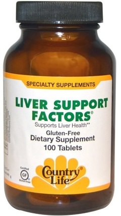 Liver Support Factors, 100 Vegan Capsules by Country Life, 健康,肝臟支持 HK 香港