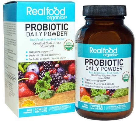 Realfood Organics, Probiotic Daily Powder, 3.1 oz (90 g) by Country Life, 補充劑,益生菌 HK 香港
