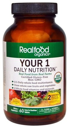 Realfood Organics, Your 1 Daily Nutrition, 60 Tabs by Country Life, 維生素,多種維生素 HK 香港