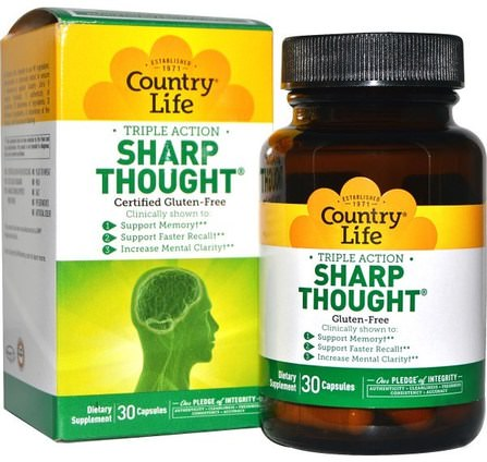 SharpThought, 30 Capsules by Country Life, 健康,注意力缺陷障礙,添加,adhd,腦 HK 香港