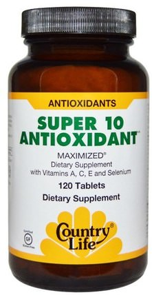 Super 10 Antioxidant, 120 Tablets by Country Life, 補充劑,抗氧化劑 HK 香港
