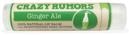 100% Natural Lip Balm, Ginger Ale, 0.15 oz (4.4 ml) by Crazy Rumors, 洗澡,美容,唇部護理,唇膏 HK 香港