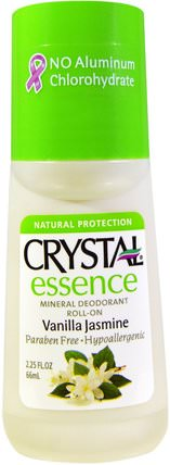 Crystal Essence, Mineral Deodorant Roll-On, Vanilla Jasmine, 2.25 fl oz (66 ml) by Crystal Body Deodorant, 沐浴,美容,除臭劑,滾裝除臭劑 HK 香港