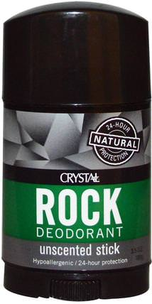 Crystal Rock Deodorant Wide Stick, Unscented, 3.5 oz (100 g) by Crystal Body Deodorant, 洗澡,美容,除臭劑 HK 香港
