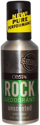 Rock Deodorant, Body Spray, Unscented, 4 fl oz (118 ml) by Crystal Body Deodorant, 沐浴,美容,除臭噴霧,除臭劑 HK 香港