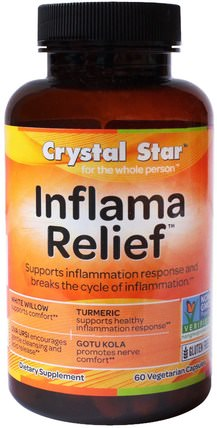 Inflamma Relief, 60 Veggie Caps by Crystal Star, 健康,抗疼 HK 香港