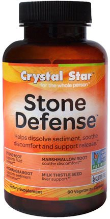 Stone Defense, 60 Veggie Caps by Crystal Star, 健康,膽囊 HK 香港